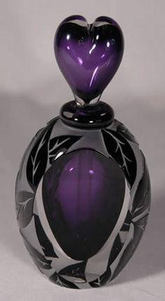 Purple & Black Perfume Bottle