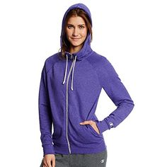 Champion Womens French Terry Full Zip Hoodie_Space Purple Heather_S *** To view further for this item, visit the image link.