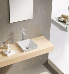 כיור מרובע חצי מונח שרותי אורחים סומו Upstairs Bathrooms, Toilet, Vanity, Ceramics, House, Home Decor, Board, Ideas, Home