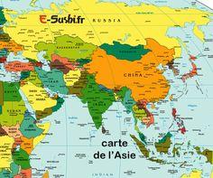 Carte Asie - Plan géoraphique | Arts et Voyages