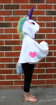 Unicorn costume dress up cape by sparrowandbcostumery on Etsy