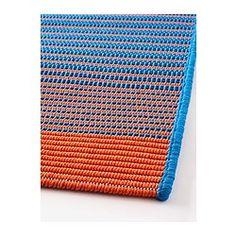IKEA - MEJLBY, Teppich flach gewebt, Besonders geeignet für Wohnzimmer oder unter Esstischen. Stühle lassen sich auf der glatten Oberfläche gut bewegen, das Staubsaugen wird erleichtert.Auch für draußen geeignet - hält Regen, Sonnenlicht, Schnee und Verschmutzung stand.Ist der Teppich nass, kann er zum Trocknen über eine Teppichstange gehängt oder locker aufgerollt und dann aufrecht hingestellt werden.