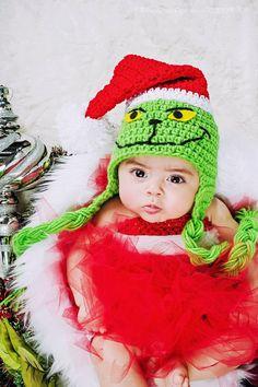 ALL SIZES Grinch Santa Beanie by EternalLightShop on Etsy, $25.00