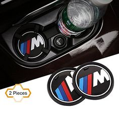 "S-WEKA 2PCS M Line Car Interior Accessories Anti Slip Cup Mat for BMW 1 3 5 7 Series F30 F35 320li 316i X1 X3 X4 X5 X6 (2.9""dia.(X3 /X4 /5 /7 Series) (2.6""(66mm))  Please measure your car's cup slot size before you order, thanks!  Water-proof and dust-proof, Keep your cup groove clean and tidy. Made of Silicone, easy to clean.  Size: Diameter 2.6""(66mm) / 2.9""(74mm) / 3.2""(81mm) (Please make sure it fits your car, thanks)  Modified models (for example X5M, X6M), please refer to diamete..."