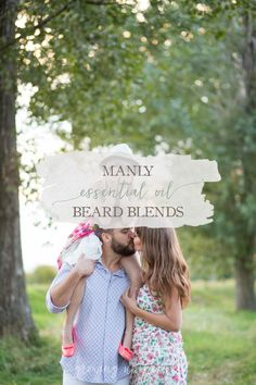 Got a man with a rough, scratchy beard. These two manly essential oil beard blends will have him smelling good and easy to kiss in no time! DIY ahead!