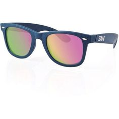 Zanheadgear Winna Sunglasses with Steel Blue-Smoked Purple Mirror, Adult Unisex, Blue