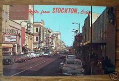 stockton ca | 1960's Downtown Stockton CA Postcard | Flickr - Photo Sharing!