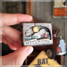 Book art projects website 39 Ideas for 2019 Matchbox Crafts, Matchbox Art, Altered Tins, Altered Art, Gata Marie, Paper Art, Paper Crafts, Tin Art, Creation Deco