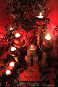 Autumn Equinox:  Apple candle holders for #Mabon.