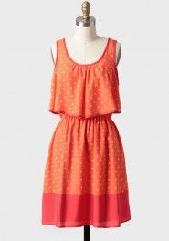 cantina tiered polka dot dress