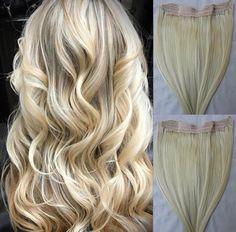 Brown Blonde Hair, Platinum Blonde Hair, Brunette Hair, Hair Extensions For Short Hair, One Piece Hair Extensions, Brassy Hair, Loose Waves Hair, Honey Hair, Textured Hair