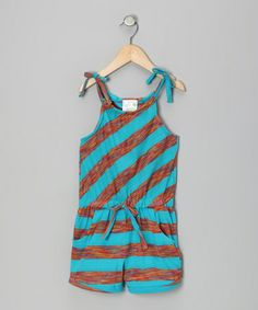 Take a look at this Blue & Orange Stripe Romper - Infant & Girls by Longstreet on #zulily today! SO cute!