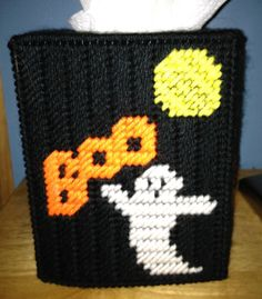Halloween Spooky Ghost Boo Tissue Box Cover by HandcraftedHolidays, $13.00