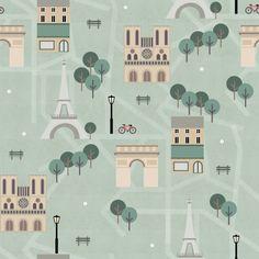 Paris City Map by Charlotte Langstroth #illustration #pattern