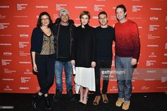 Director Rebecca Miller, actor Travis Fimmel, actress Greta Gerwig, actor Damon Cardasis, and Sundance Film Festival Director of Programming Trevor Goth attend the 'Maggie's Plan' Premiere during the 2016 Sundance Film Festival at The Marc Theatre on January 22, 2016 in Park City, Utah.