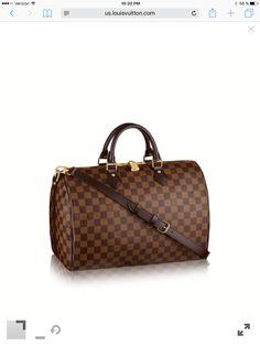 81c38968083 My dream bag Discover Louis Vuitton Speedy Bandoulière In classic Damier  Ebène canvas
