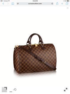 6390f8bc7 My dream bag:Discover Louis Vuitton Speedy Bandoulière In classic Damier  Ebène canvas, the iconic shape of the Speedy Bandoulière 35 is as elegant  as ever.