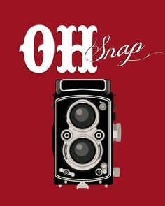 Retro art-vintage camera print-typographic by etchedandsketched