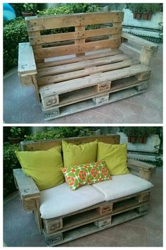 Pallets couch More Handmade - Home & Kitchen - Furniture - handmade furniture - http://amzn.to/2ksLfE7