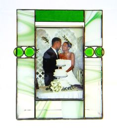 Stained Glass Picture Frame for 5 x 7 Photo