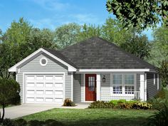 ePlans Ranch House Plan – Narrow Lot Three Bedroom – 1250 Square Feet and 3 Bedrooms from ePlans – House Plan Code HWEPL76984