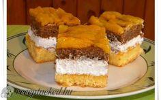 Őszibarackos krémszelet recept fotóval Cake Bars, Cake Cookies, Nutella, Cheesecake, Goodies, Sweet, Recipes, Food, Cakes