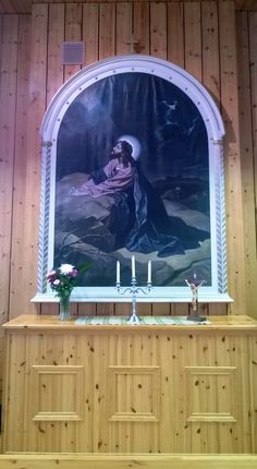 Jesus Praying At The Garden Of Gethsemane -Altarpiece, Kajaani, Finland (Kansanlähetyskoti) Finland, Pray, Garden, Garten, Lawn And Garden, Gardens, Gardening, Outdoor, Yard