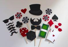 Casino Photo Booth Props. James Bond, Poker Night Photobooth by PAPERandPANCAKES on Etsy https://www.etsy.com/listing/231996480/casino-photo-booth-props-james-bond