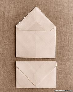 If I have another letter-writing party, I am definitely folding the napkins up a-like so.