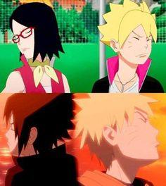Haha Sarada and Boruto are just like Sasuke and Naruto ❤️❤️❤️
