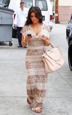 Kim Kardashian Carousel Restaurant June 10  2011