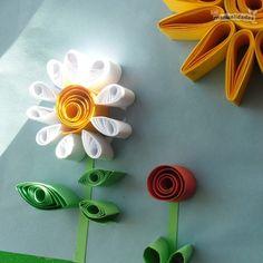 Flores de papel enrollado, preciosas