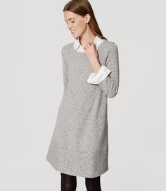 In a luxe cashmere-effect knit, this irresistibly soft and comfy staple dresses up with a swingy fit. Ribbed V-neck, cuffs and hem. from natural waist. Jumpsuit Dress, Dress Up, High Neck Dress, Staple Dress, Petite Sweaters, Work Wardrobe, Work Wear, Fashion Beauty, Cool Outfits