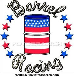 Barrel Racing I would love to put that on our horse trailer if our horse trailer wasn't red