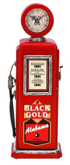 Vintage Gas Pump Wood Clock Red Black Gold Alabama Sign Home D | lamp | lighting, furniture | accents, home decor | accessories, wall decor, patio |  garden, Rugs, seasonal decor,clocks