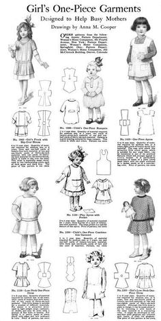 Womans Home Companion February 1913  Girls one piece garments. Now that's what we modern costumers need!