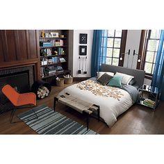 faade grey bed cb2 cb2 bedroom furniture