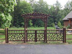Beautiful #arbor & #fence- Paynter Arbor