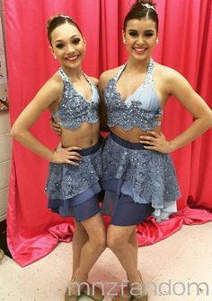 [S5E11] Maddie Ziegler and Kalani Hilliker in the dressing room in full costume and makeup for their duet.