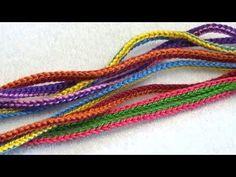Вязание крючком. Шнурок - Двойная цепочка /// Crochet for beginners. Lace - Double chain - YouTube
