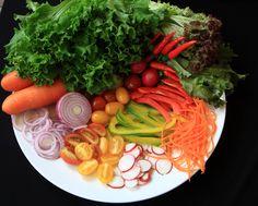prato de salada orgânica