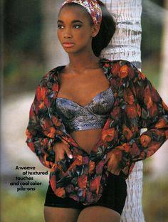 Beverly Peele by Gilles Bensimon for Elle US, May 1991 90s Fashion, Retro Fashion, Girl Fashion, Vintage Fashion, Beverly Peele, Yves Saint Laurent, Grunge, Black Magazine, Pretty Hurts