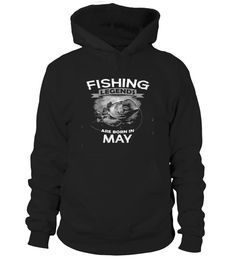 Fishing legends are born in May T-Shir..