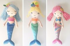 Adorable handmade mermaid dolls for any age that are sure to make a splash in any girl's life.