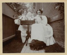 Taking tea outside,  c. 1890s