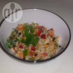 My Favourite Colourful Brown Rice Salad Mein buntes Naturreis-Salat-Lieblingsrezept Side Recipes, Real Food Recipes, Dinner Recipes, Cooking Recipes, Yummy Recipes, Vegan Recipes, Savoury Recipes, Recipies, Yummy Food