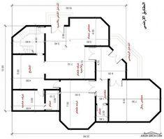 مخطط فيلا بمساحه 200 متر مربع بالسعودية مهندسة سمر فؤاد House Floor Design Small House Design Exterior Family House Plans