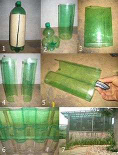 Plastic bottles for a green house roof-genius!