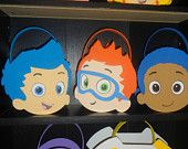 Bubble Guppies Inspired party bags favors, baskets set of 7. $21.00, via Etsy.