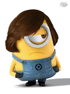 Javier Bardem Minion - as Anton Chigurh in No Country For Old Men Minions What, Despicable Me 2 Minions, Cute Minions, Minion Jokes, Minions Quotes, Minions Movie Characters, Minion Movie, Minion Party, Javier Bardem
